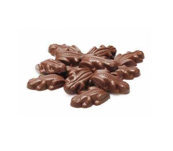 Ranitas de chocolate relleno de toffee