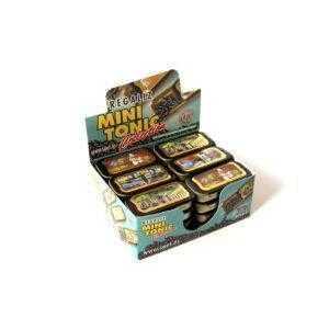 Latas Mini Tonic colección oificios rellenas de pastillas de flor de regaliz