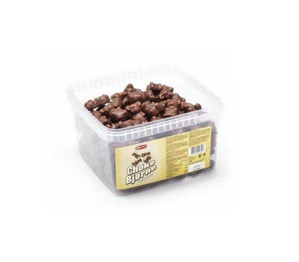 Tarro de ositos de chocolate de 1,2 Kg y 240 unidades de Marshmallow de nata